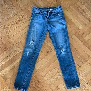 Jcrew distresses jeans